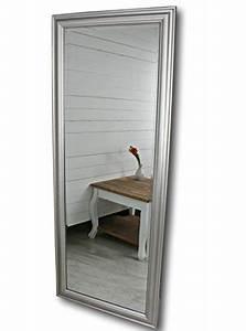 Großer Wandspiegel Silber : elbm bel wandspiegel gro in silber mit schlichtem holz rahmen 150 x 60cm ~ Markanthonyermac.com Haus und Dekorationen