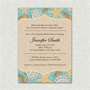 invitation beach themed bridal shower invite by With wedding shower invitations beach theme