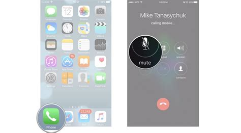 how to mute iphone how to place and receive calls with the phone app for