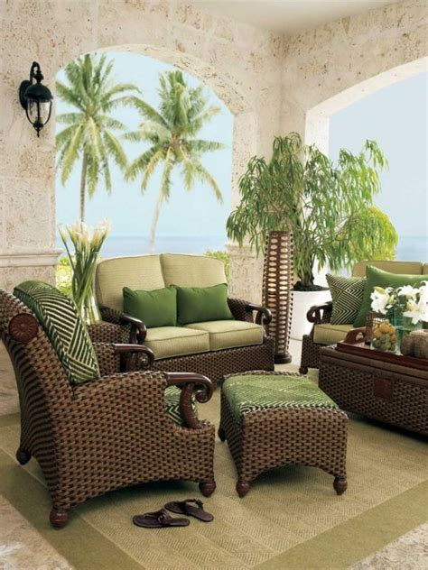 green wicker living room furniture home decor