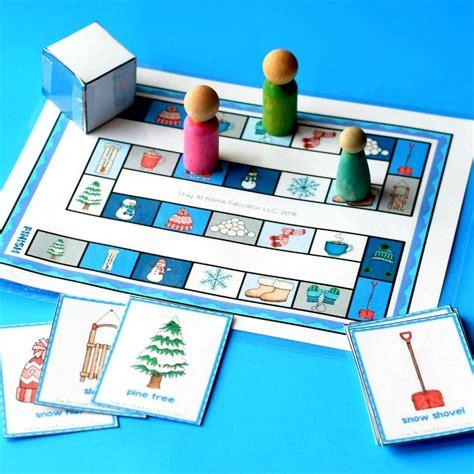 winter theme preschool lesson plans 584 | vocabulary game in winter theme preschool lesson plans preview