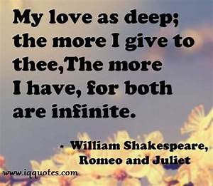 Romeo And Juliet Love Quotes - Romeo And Juliet Love Quote