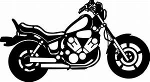 Motorcycle black and white harley motorcycle clipart black ...