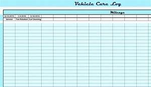 Ledger Template Vehicle Care Log My Excel Templates