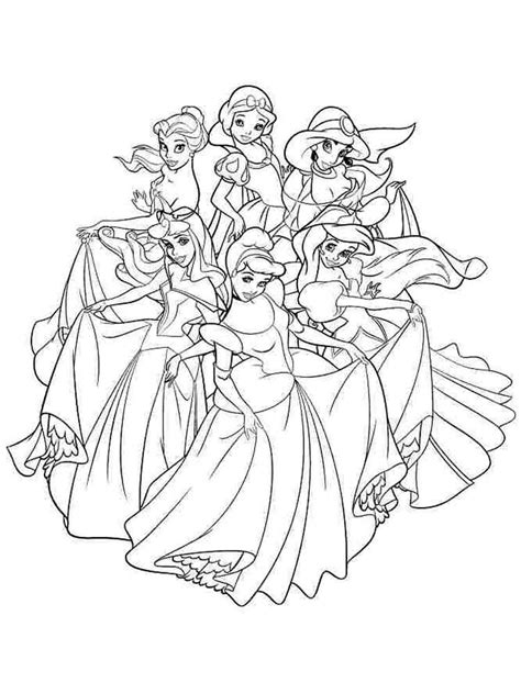 Coloring Pages Disney Princesses by Disney Princess Coloring Pages To Print Free Disney