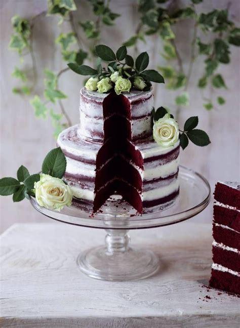 red velvet semi naked cake  beautiful cakes bolo