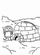 Igloo Coloring Eskimo Pages Boy Printable Sheets Getcolorings Penguin Bulkcolor sketch template