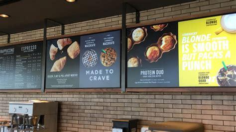 Check out the starbucks menu, our quick breakfast ideas and nutritional information. Starbucks DFW Indoor & Drive-Thru Menu Boards - OSM Solutions | Digital menu, Digital menu ...