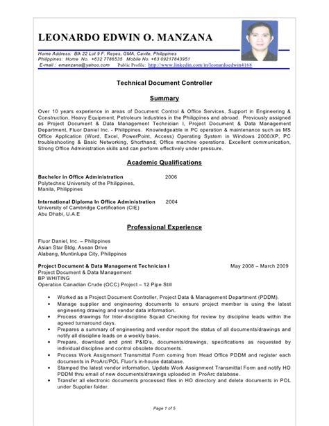 standard paper size for resume in the philippines resume leonardo edwin manzana tdcb uae