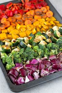 free rainbow roasted vegetables simple vegan