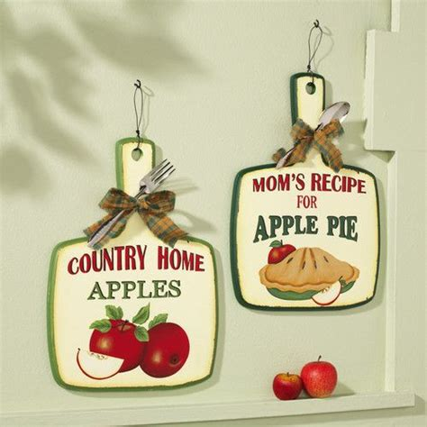 look apple pie kitchen wall decor set country red apple