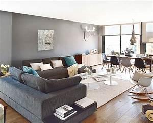 Salon Gris Et Bois : un duplex en gris bleu et bois sonia saelens d co int rieurs bleus gris bleu et d co ~ Melissatoandfro.com Idées de Décoration