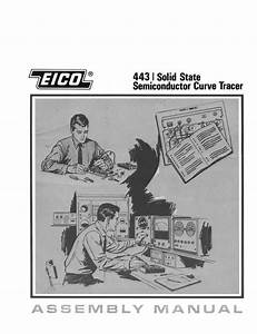 Eico 443 Semiconductor Curve Tracer Assembly Instructions