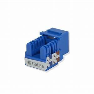 100 Pack Lot Keystone Jack Cat5e Blue Network Ethernet 110