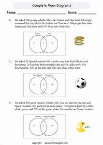Math Grade 6 Venn Diagram Worksheet  Analyze The Data And