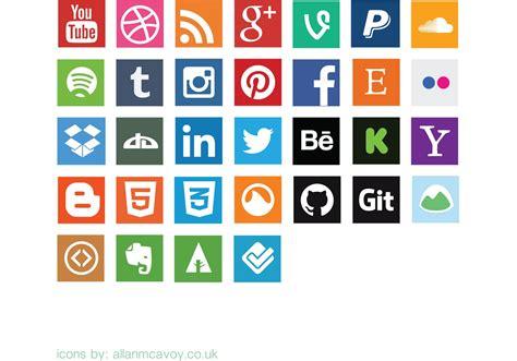Social Media Icons Vector Flat Social Media Icon Vector Pack Free Vector At