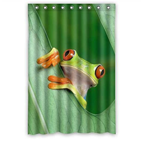 frog shower curtain cutest frog bathroom decor