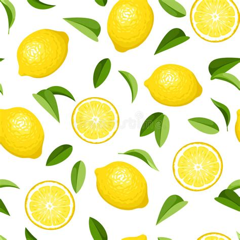 Lemon Wallpaper by Seamless Background With Lemons Stock Vector