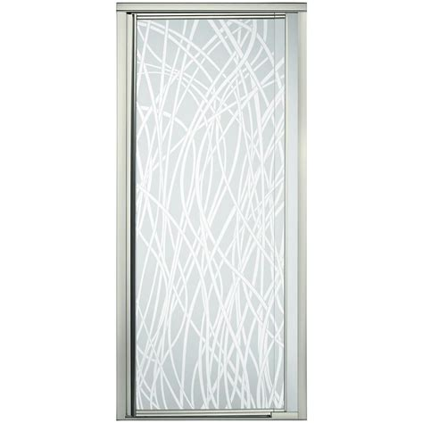 sterling vista pivot ii       framed pivot shower door  nickel
