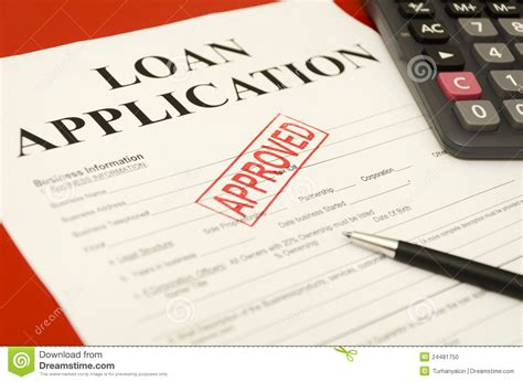 Approved Loan Application Stock Photo. Image Of Banking