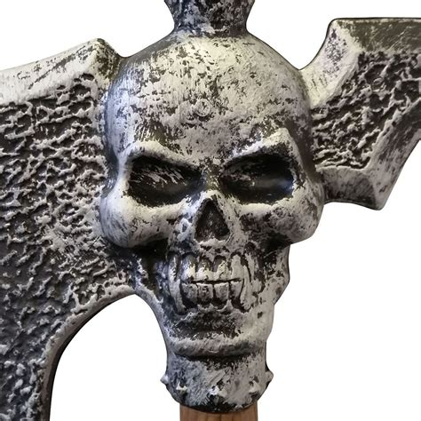 skull axe giant goblin war halloween viking plastic cosplay weapon 76cm bn spiked west