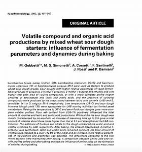Volatile compound and organic acid productions by mixed ...