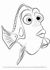 Dory Finding Draw Coloring Nemo Drawing Step Pages Destiny Template Cartoon Sketch Tutorials Drawingtutorials101 Tutorial Coloringhome sketch template