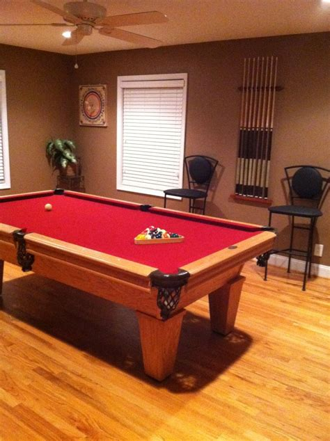 space for pool table our pool table room hubby pinterest