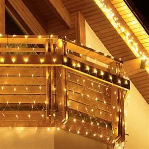 Weihnachtsbeleuchtung Außen Balkon : led balkon lichternetz winter dream von g rtner p tschke ~ Michelbontemps.com Haus und Dekorationen