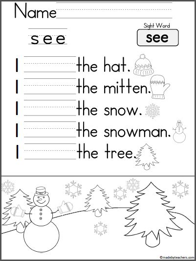 learning to write sentences worksheets kindergarten