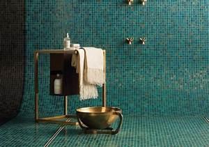 salle de bain vintage superbe avec mosaique verte et With salle de bain mosaique verte