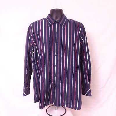 austin reed mens size large shirt button  striped ebay