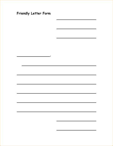 friendly letter template 7 friendly letter template pdf invoice template 8842