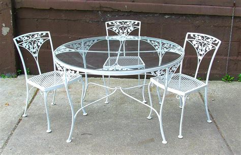 Metal Patio Table And Chairs by Dining Table Fascinating White Wrought Iron Outdoor