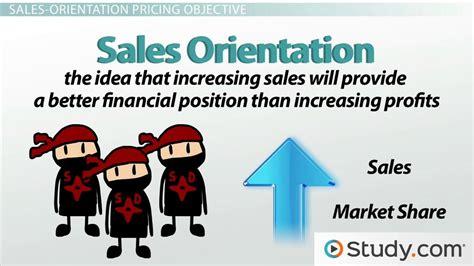 pricing decisions profit oriented sales status quo