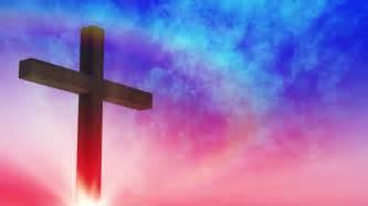 Calvary Cross Purple Sky