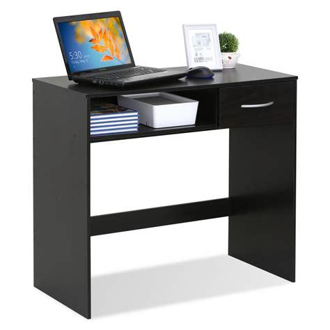 furinno jaya computer study espresso desk with drawer