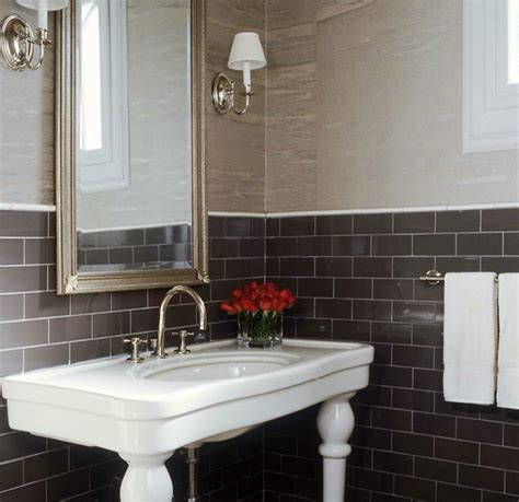 chocolate brown bathroom ideas parisian pedestal sink design ideas