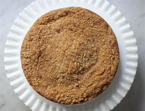 To assemble the cake, pour the cake batter into the buttered and floured tube pan. Sour Cream Apple Coffee Cake   The Nosher
