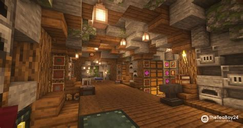 minecraft cave storage room   minecraft storage