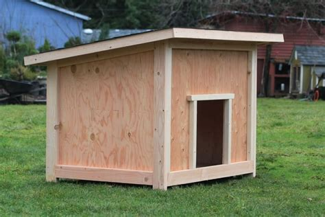 plywood dog house plans luxury dog house plan   home