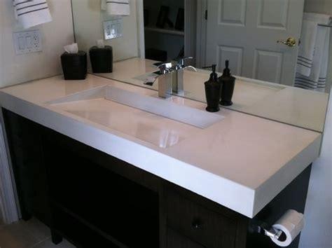 hand crafted concrete ramp sink  beton studio