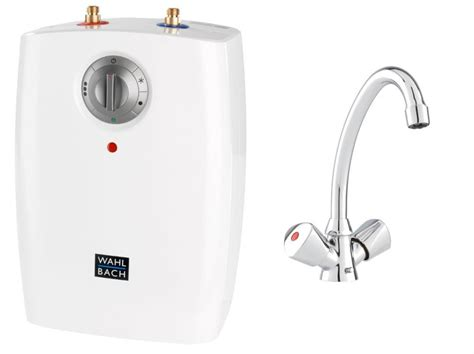 Wbach Vented L Undersink Electric Water Heater + Mixer