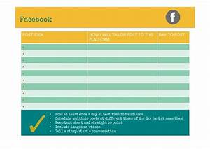 social media content plan template With facebook posting schedule template