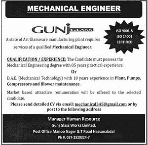 Mechanical Engineering Jobs in Hassan Abdal Attock 2013 ...