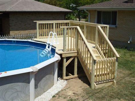 Cool Above Ground Pool Decks Ladder