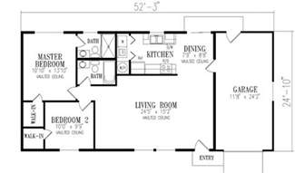 1000 sq ft floor plans 1000 square 2 bedrooms 2 batrooms 1 parking space on 1 levels house plan 20146 all