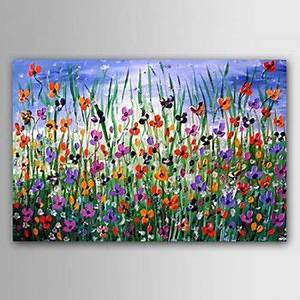 Reproduction Tableau Sur Toile : tableau toile peinture huile fleurs abstrait reproduction ~ Dailycaller-alerts.com Idées de Décoration