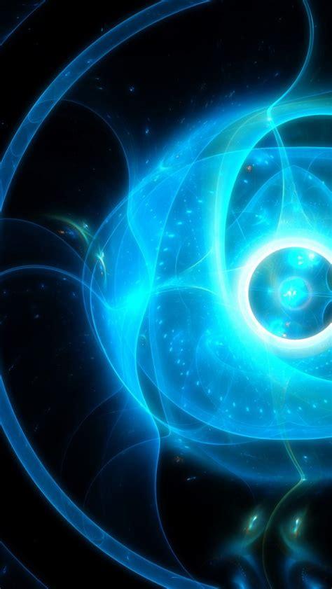 light blue fractal  uhd wallpaper