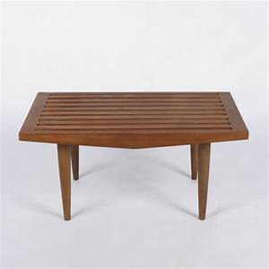 Small slatted bench coffee table at city issue atlanta for Two small tables instead of coffee table